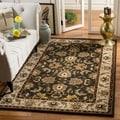 Safavieh Handmade Heritage Mahal Black/ Ivory Wool Rug (7'6 x 9'6)