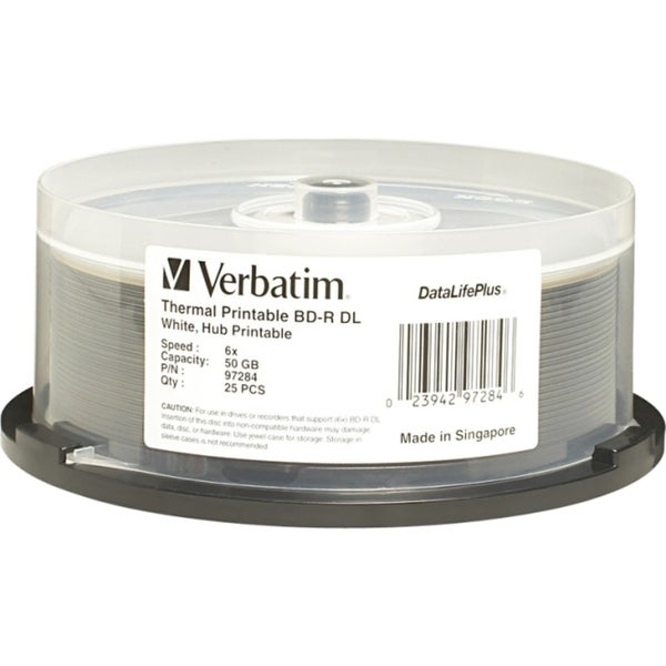 Verbatim BD-R DL 50GB 6X DataLifePlus White Thermal Hub Printable - 2