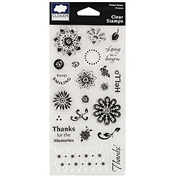 Fiskars Cloud 9 22-piece Finley's Estate Clear Stamps