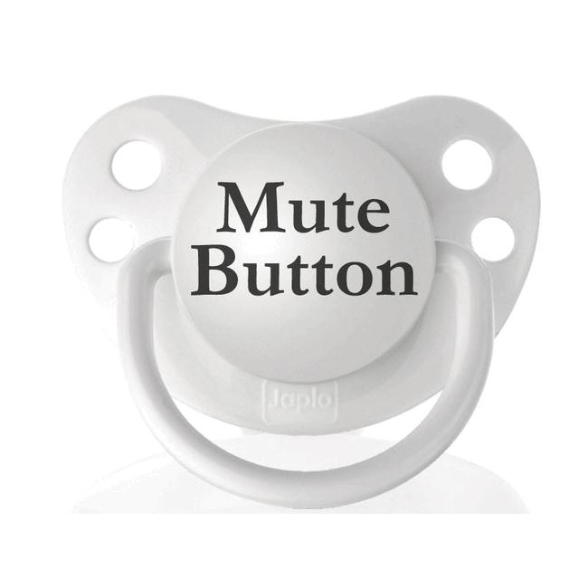 Personalized Pacifiers Mute Button Pacifier