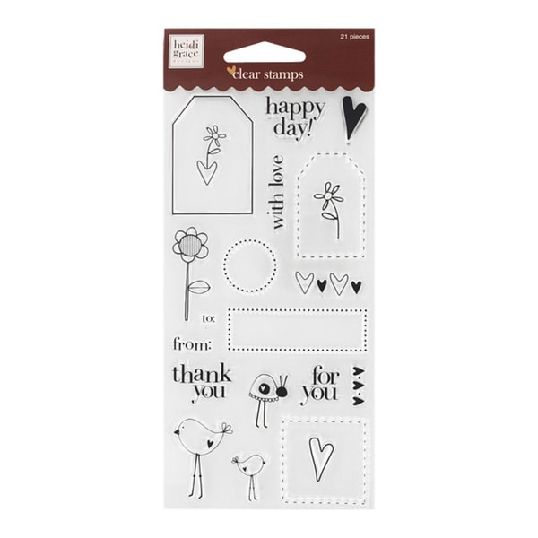 Fiskars Tags and Words Clear Stamps
