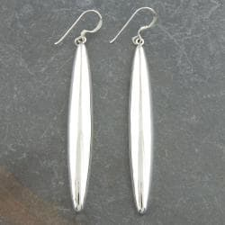 Sterling Silver Long Tube Earrings (Thailand)
