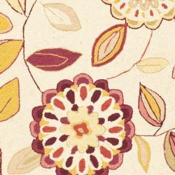 Safavieh Hand-hooked Chelsea Floral Garden Ivory/ Pink Wool Rug (2'6 x 8')