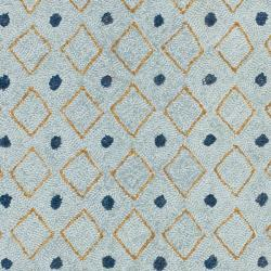 Hand-hooked Chelsea Resorts Blue Wool Rug (2'9 x 4'9)