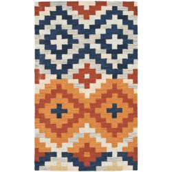 Safavieh Hand-hooked Chelsea Southwest Multicolor Wool Rug (1'8 x 2'6)