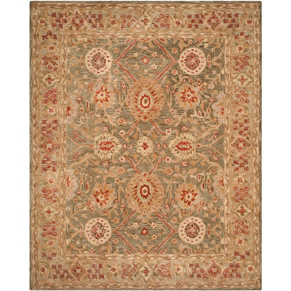 Safavieh Handmade Mahal Sage/ Ivory Wool Rug (9' x 12')