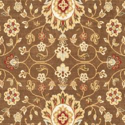 Safavieh Handmade Majesty Brown/ Light Blue N.Z. Wool Rug (8' x 11'2)