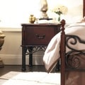 LeAnn Cherry Finish 1-drawer Side Table