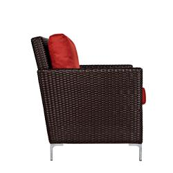 angelo:HOME Napa Springs Tulip Red Set of 2 Chairs Indoor/Outdoor Wicker