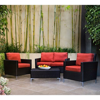 angelo:HOME Napa Springs Tulip Red 4 Piece Indoor/Outdoor Wicker ...