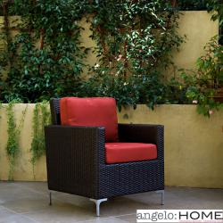 angelo:HOME Napa Springs Tulip Red Chair Indoor/Outdoor Wicker
