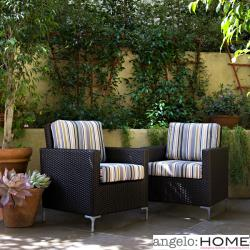 angelo:HOME Napa Springs Newport Stripe Set of 2 Chairs Indoor/Outdoor Wicker