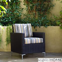 angelo:HOME Napa Springs Newport Stripe Chair Indoor/Outdoor Wicker