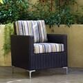 angelo:HOME Napa Springs Newport Stripe Chair Indoor/Outdoor Wicker