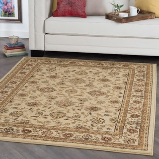 Ivory Traditional Area Rug (5'x 7')