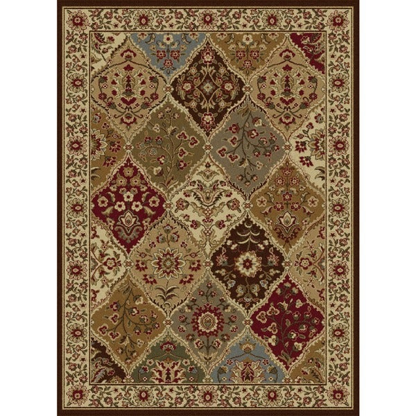 """Traditional Ivory Abstract Area Rug (7'6"""" x 9'10"""")"""