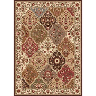 Traditional Ivory Abstract Area Rug (7'6