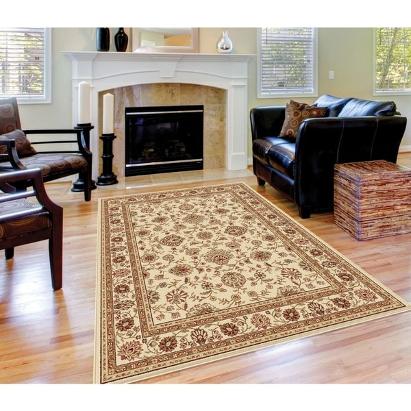Alise Ivory Traditional Area Rug (7'6 x 9'10)