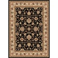 Multi Collection Black Area Rug (7'6 x 9'10)