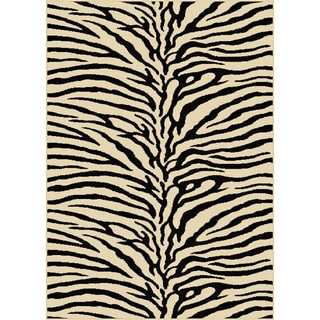 Multi Collection Ivory Area Rug (7'6 x 9'10)
