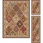 Multi Collection 3-piece Set of Area Rugs (1'8x2'8, 1'8x5', 5'x7')