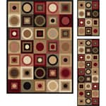 "Multi Collection Set of Three Traditional Area Rugs (1'8"" x 2'8"", 1'8"" x 5', 5' x 7')"