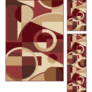 Multi Collection Set of Three Geometric Area Rugs (1' 8