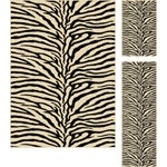 Multi Collection Set of Three Zebra-Print Area Rugs (1' 8