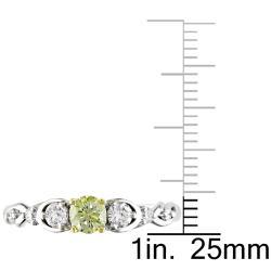 Miadora 14k Gold 1/2ct TDW Round Cut Yellow and White Diamond Ring (G-H, I2)