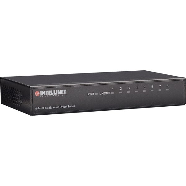 Intellinet 8-Port 10/100 Desktop Switch, Metal Housing