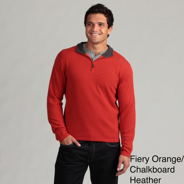 Oliver & James Men's Cashmere 1/4 Zip Sweater FINAL SALE