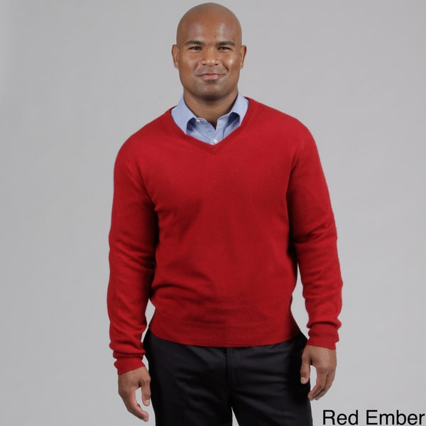 Oliver & James Men's Cashmere V-neck Sweater