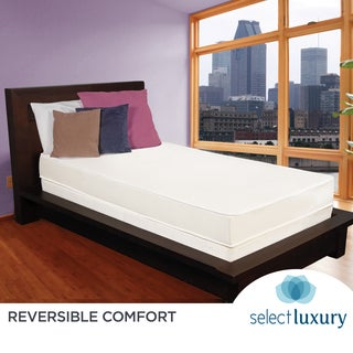 Select Luxury Reversible Comfort 6-inch Medium Firm Twin-size Foam Mattress