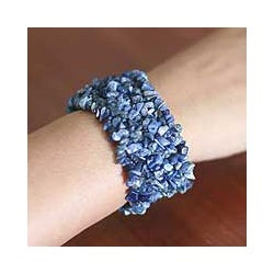 Sodalite 'Infinite Blue' Stretch Bracelet (India)