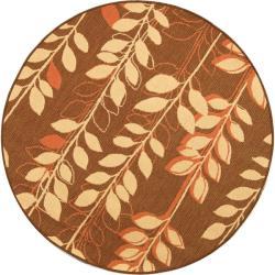 Safavieh Indoor/ Outdoor Brown/ Terracotta Rug (5'3 Round)