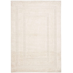 Hand-woven Ultimate Cream Shag Rug (8' x 10')