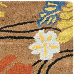 Handmade Soho Brown New Zealand Wool Rug (2' x 3')