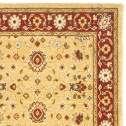 Handmade Majesty Gold/ Red New Zealand Wool Runner (2'3 x 7'6)