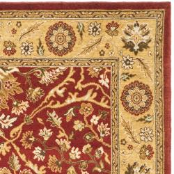 Handmade Majesty Red/ Gold New Zealand Wool Rug (4' x 5'6)