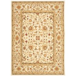 Handmade Majesty Ivory/ Ivory New Zealand Wool Rug (5'3 x 7'6)