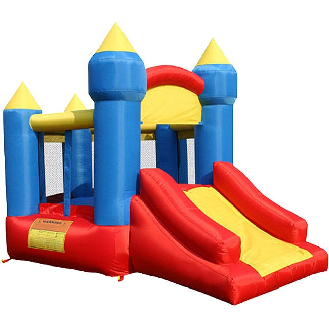 KidWise Multi-color Fun Little Kings Castle with Slide Bouncer