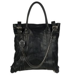 A Brand Apart 'Sidney' Black Leather Tote Bag