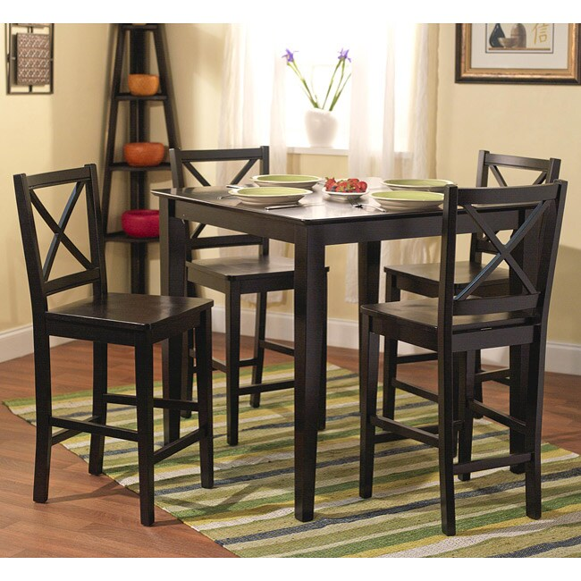 Simple Living Counter Height 5-piece Table and Chair Set