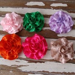CarolineAlexander Ribbon Rose Brooch