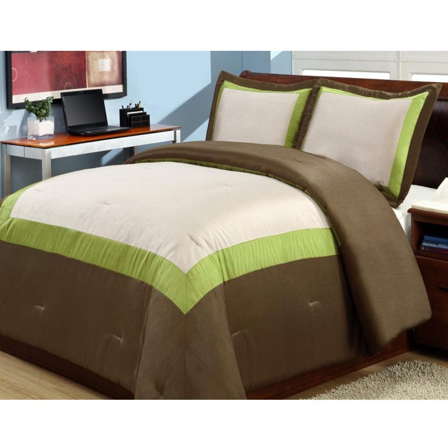 Hotel Green 3-piece Duvet Cover Set