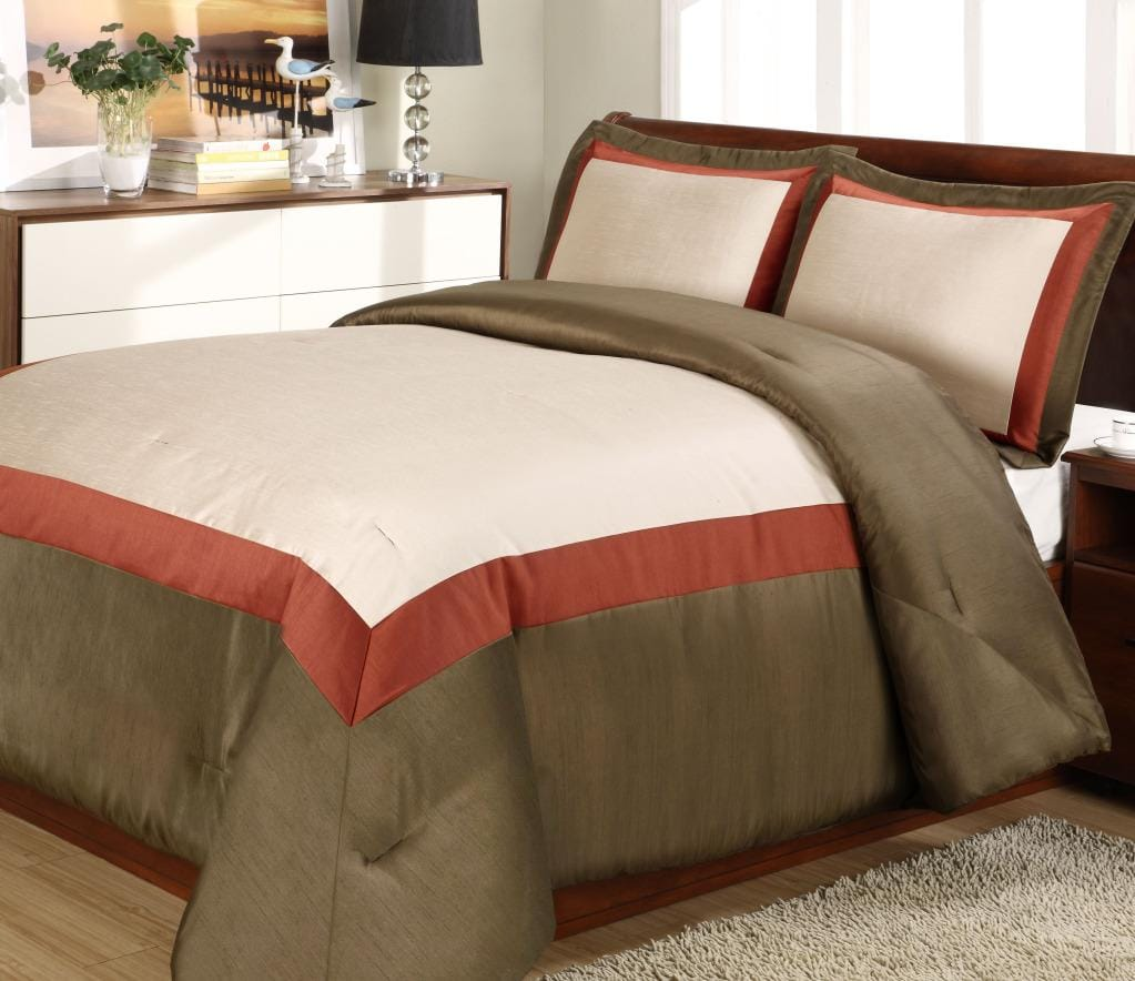 Hotel Rust 3-piece Duvet Cover Set