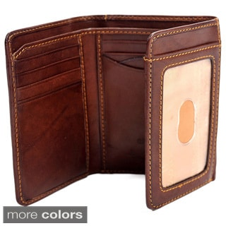 Tony Perotti Brown Prima Tri-fold Wallet