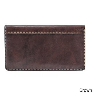 Tony Perotti Prima Italian Leather Checkbook Wallet