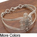 Silverplated Wire Woven Swirl Bracelet (Kenya)