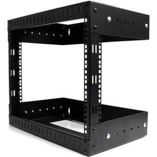 StarTech.com 8U Open Frame Wall Mount Equipment Rack - Adjustable Dep